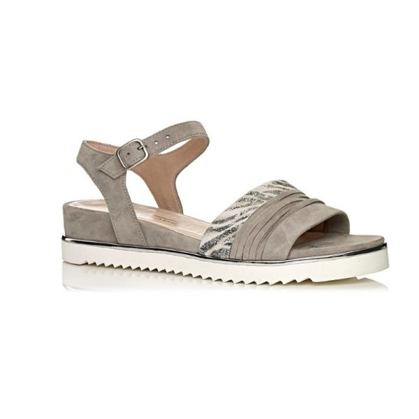 Buy softwaves flat sandals, extra light and comfort in grey