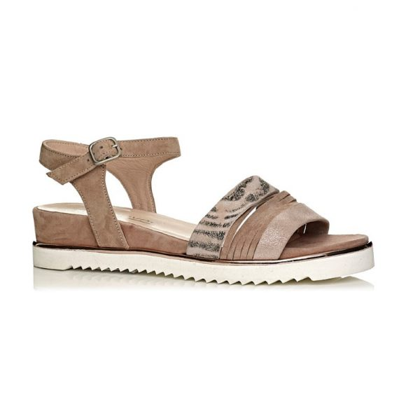 Buy softwaves flat sandals, extra light and comfort in nude and rosato