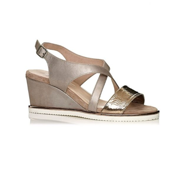 wedge pump in pink nude extra ligth extra comfort
