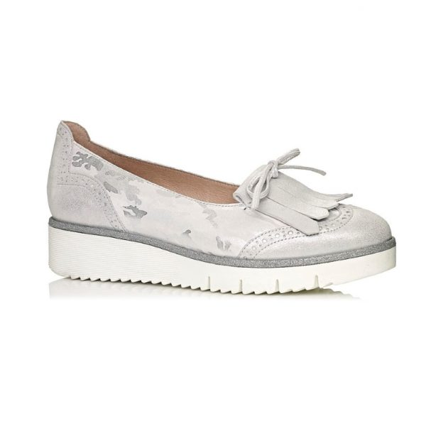 buy online softwaves loafers in white silver camuflage very comfort