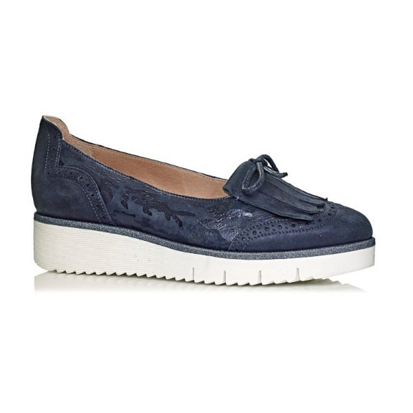 buy online softwaves loafers in navy, removabe insole extra comfort