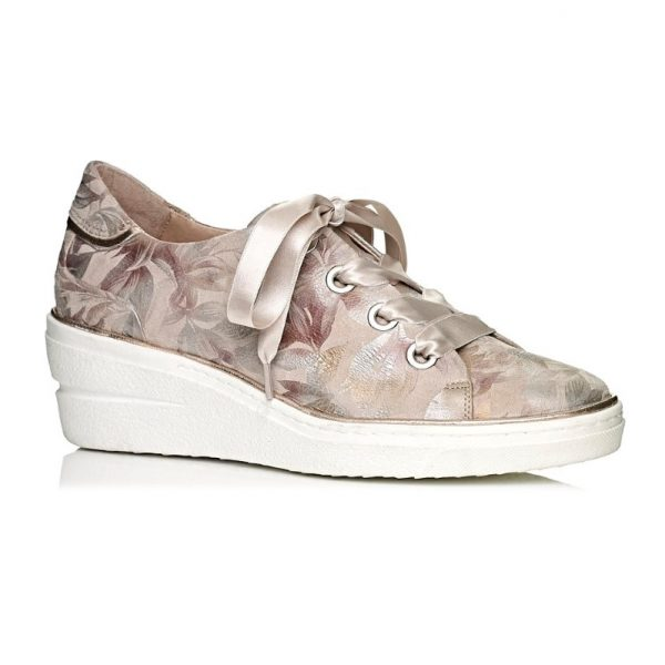 buy softwaves online wedge sneakers in color grey with laces