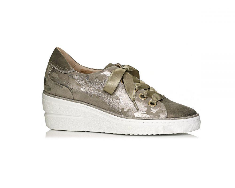 buy online wedge sneakers in Kaki comfort and ligth