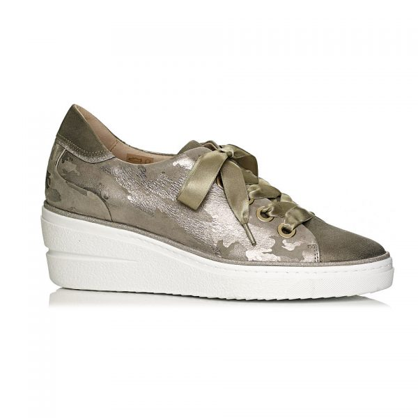 buy online wedge sneakers in Kaki comfort and ligth