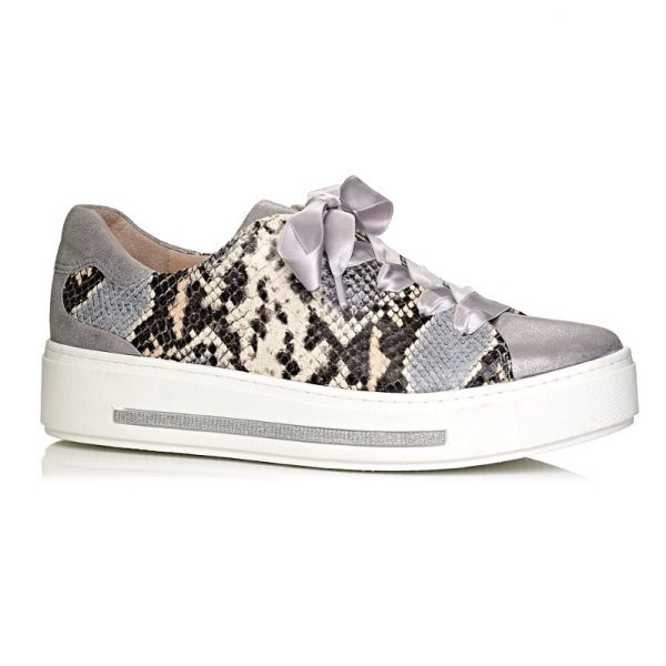 Softwaves woman sneakers with laces in snake with comfort