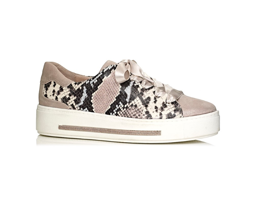 Softwaves women sneakers in snake and pink, comfort
