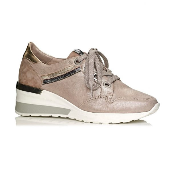 buy online softwaves wedge sneakers in pink nude