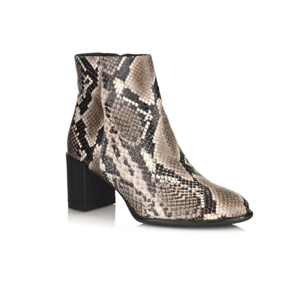 HEEL ANKLE BOOT IN PYTHON VERY COMFORT