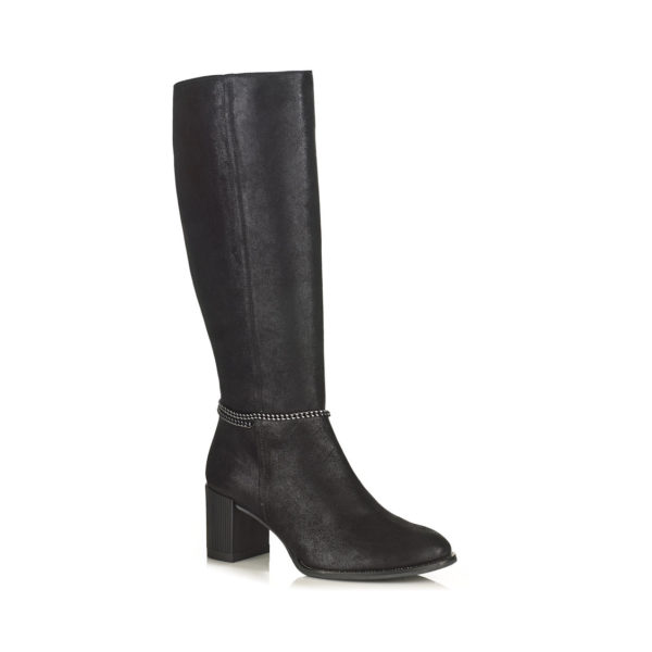 Hight boot Softwaves with heel in black, Very comfort