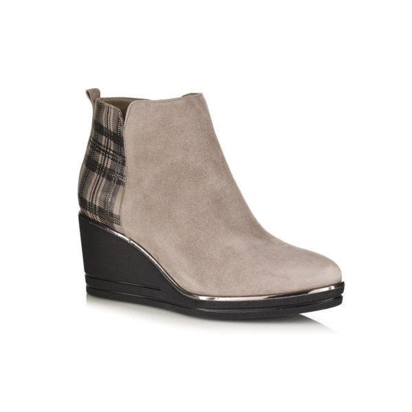 WEDGE BOOTS IN VELOUR VERY COMFOR AND LIGHT WITH ZIP