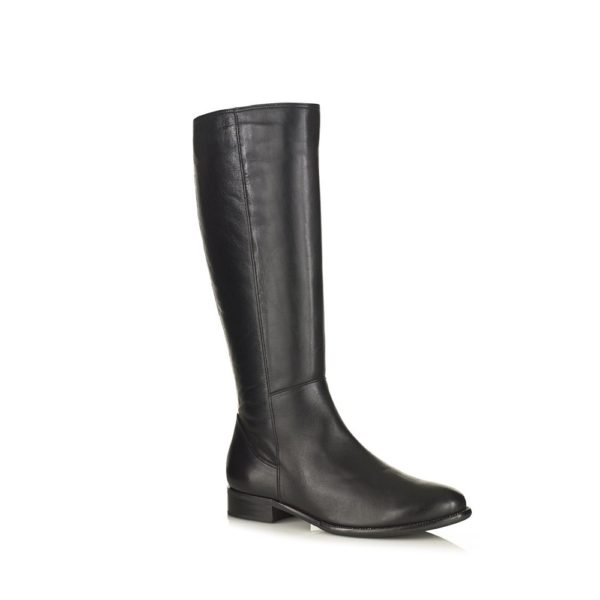 Black hight boot in leather with python, softwaves very comfort