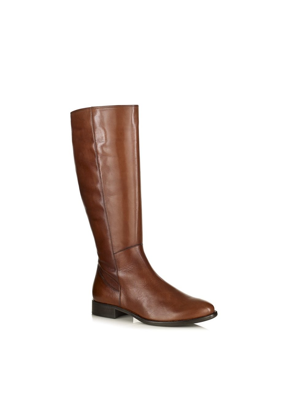 hight boot in leather cognac with python, softwaves, very comfort