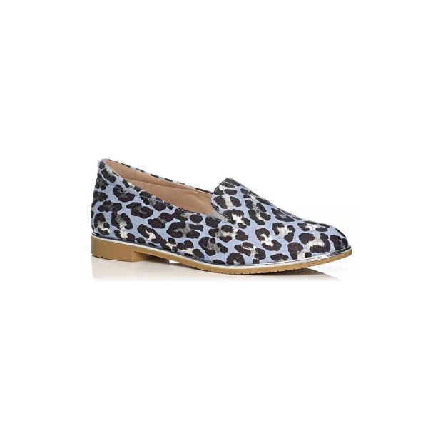 SOFTWAVES FLAT SHOES LOAFERS VERY COMFORT AND LIGHT IN LEOPARD PRINT