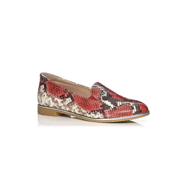 SOFTWAVES FLAT SHOES IN PYTHON FERRARI COMFORT AND LIGHT