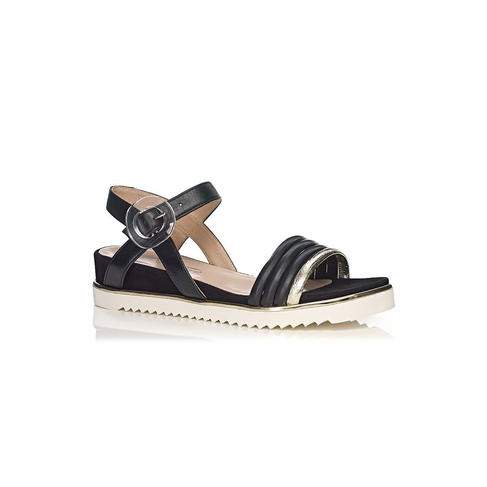 SOFTWAVES FLAT SANDALS IN BLACK VERY COMFORT AND LIGHT