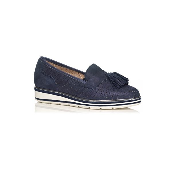 SOFTWAVES FALT SHOES VERY SOFT AND COMFORTABLE IN NAVY
