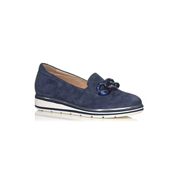 SOFTWAVES FLAT SHOES IN NAVY VERY SOFT
