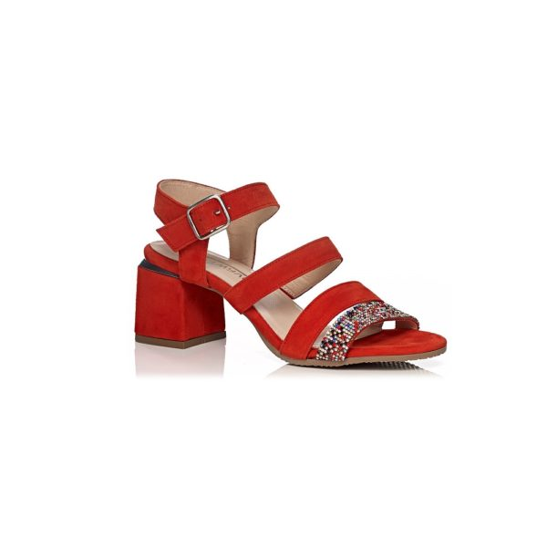 SOFTWAVES HEEL SANDAL, VERY COMFORT AND LIGHT IN FERRARI