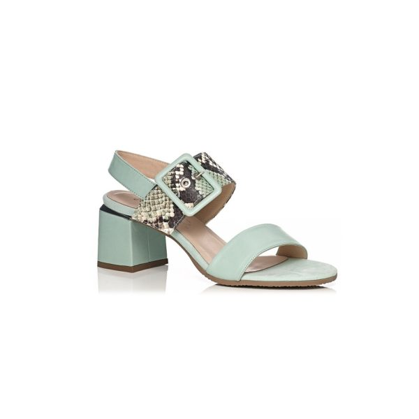 SOFTWAVES HEEL SANDAL VERY COMFORT AND LIGHT IN MINT