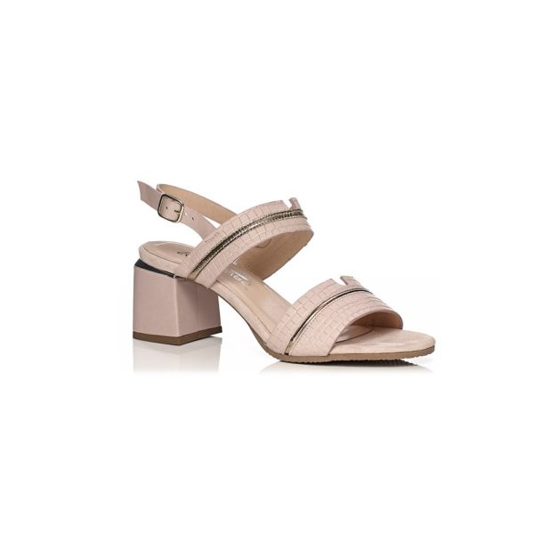 SOFTWAVES HEEL SANDAL VERY COMFOR AND LIGHT IN NUDE