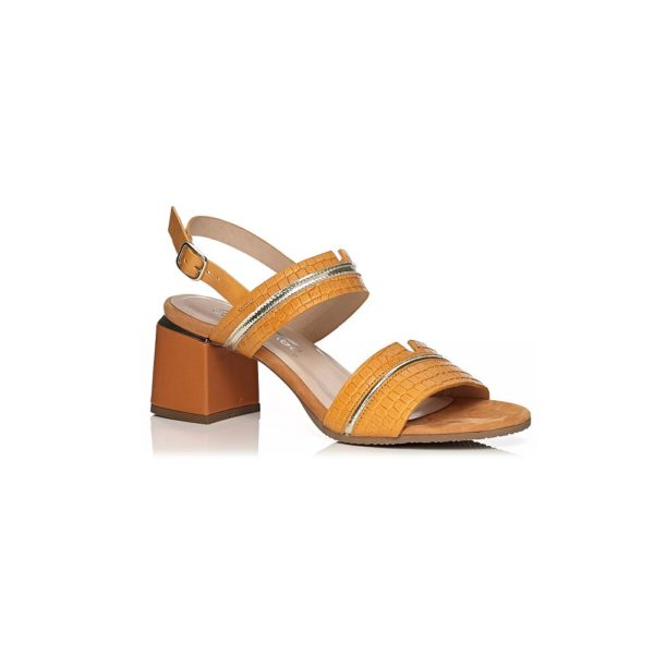 SOFTWAVES HEEL SANDAL IN PAPAYA VERY COMFORT AND LIGHT