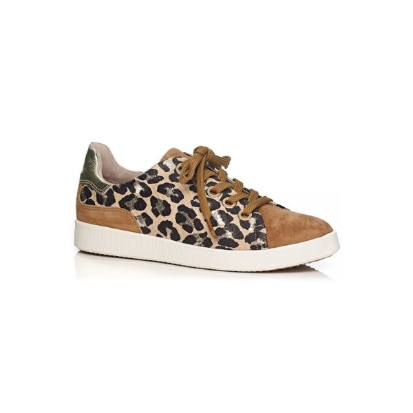 Softwaves flat sneakers with leopard print very comfort and removable insole