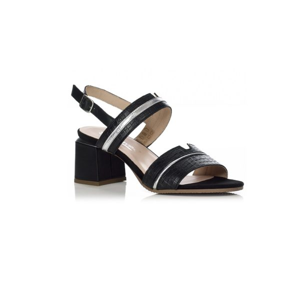 SOFTWAVES HEEL SANDAL, VERY COMFORT AND LIGHT IN BLACK