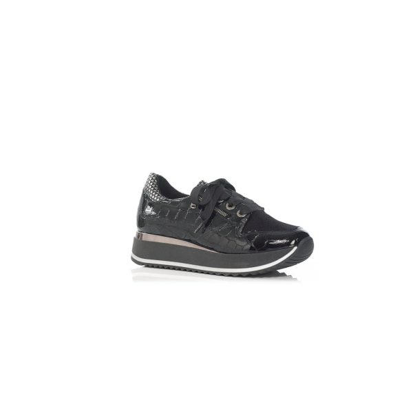 FLAT SNEAKERS IN BLACK VERY LIGHT AND SOFT, COMFORT, WIDE FEET