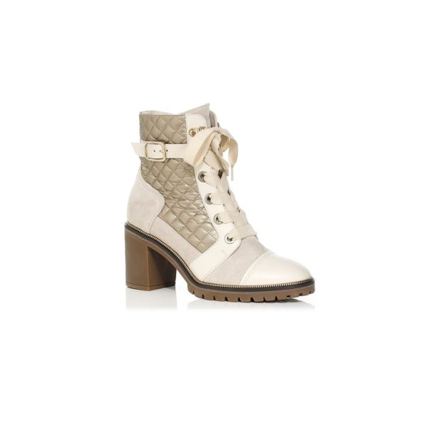 HEEL ANKLE BOOTS VERY COMFORT WITH LACE AND ZIP INSIDE