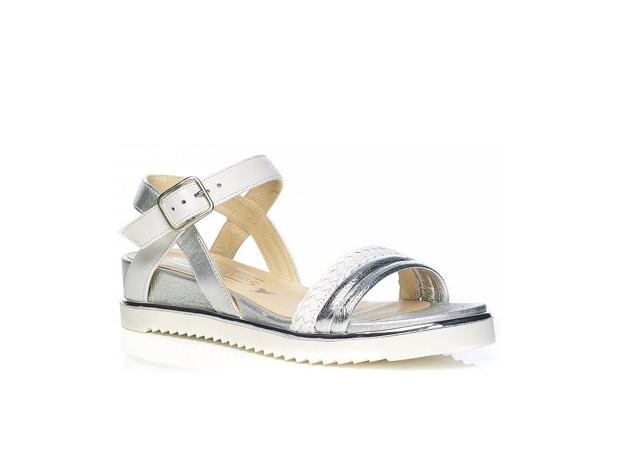 WOMAN SHOES: Flat Sandal 7.42.40.00 IN SILVER VERY LIGHT AND SOFT