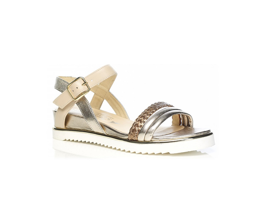 WOMAN SHOES: Flat Sandal 7.42.40.02 IN COGNAC, VERY LIGHT AND SOFT