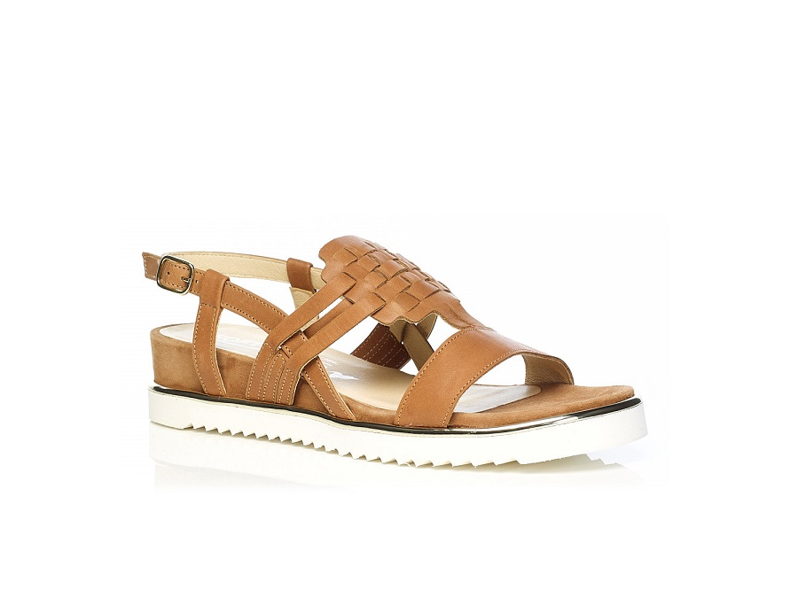 WOMAN SHOES: Flat Sandal 7.42.41.00 IN COGNAC, VERY LIGHT AND SOFT