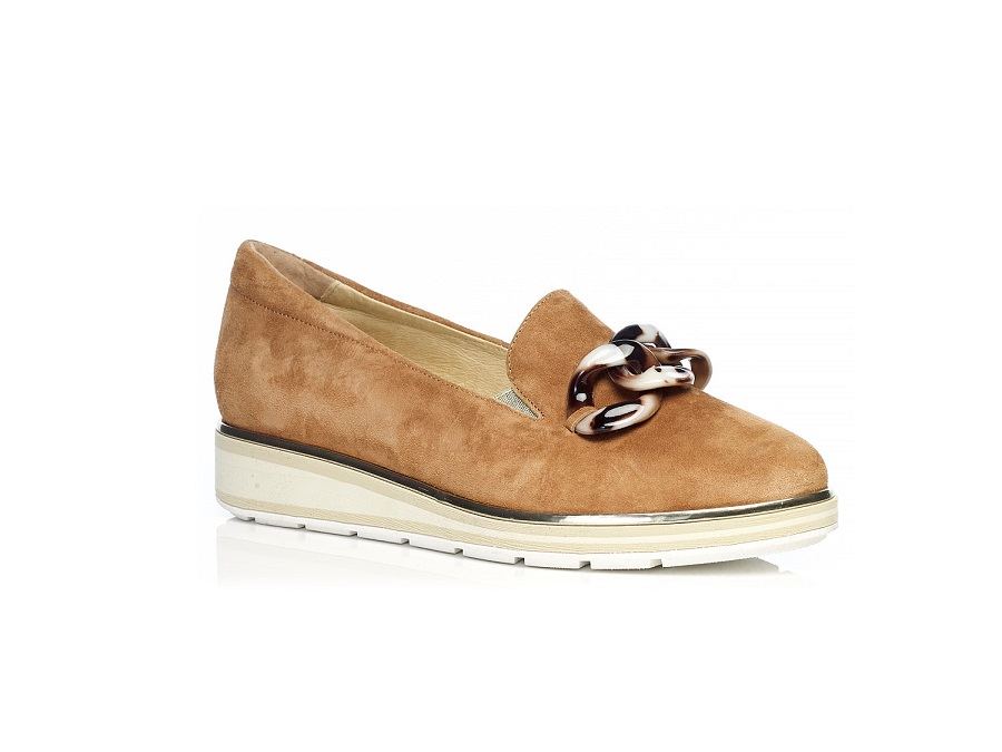WOMAN SHOES LOAFERS 7.63.16.17 IN COGNAC LIGHT COMFORT