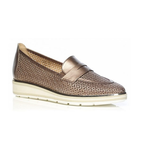 WOMAN SHOES LOAFERS 7.63.26.00 IN COGNAC LIGHT COMFORT