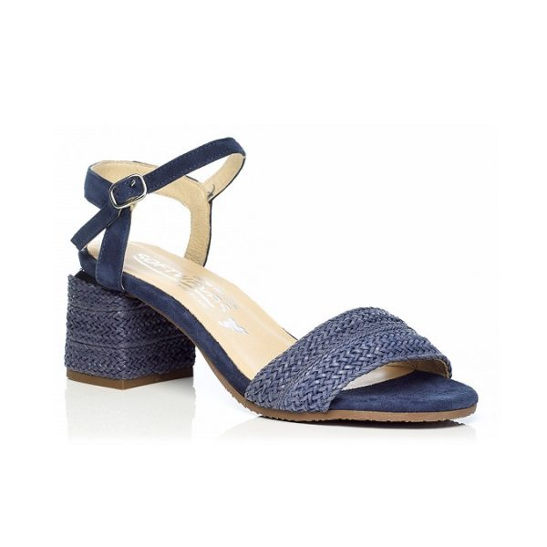 WOMAN SHOES HEEL SANDALS IN NAVY 7.92.10.03 LIGHT COMFORT