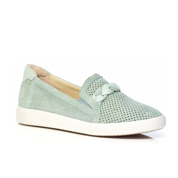 Flat Sneaker in Green