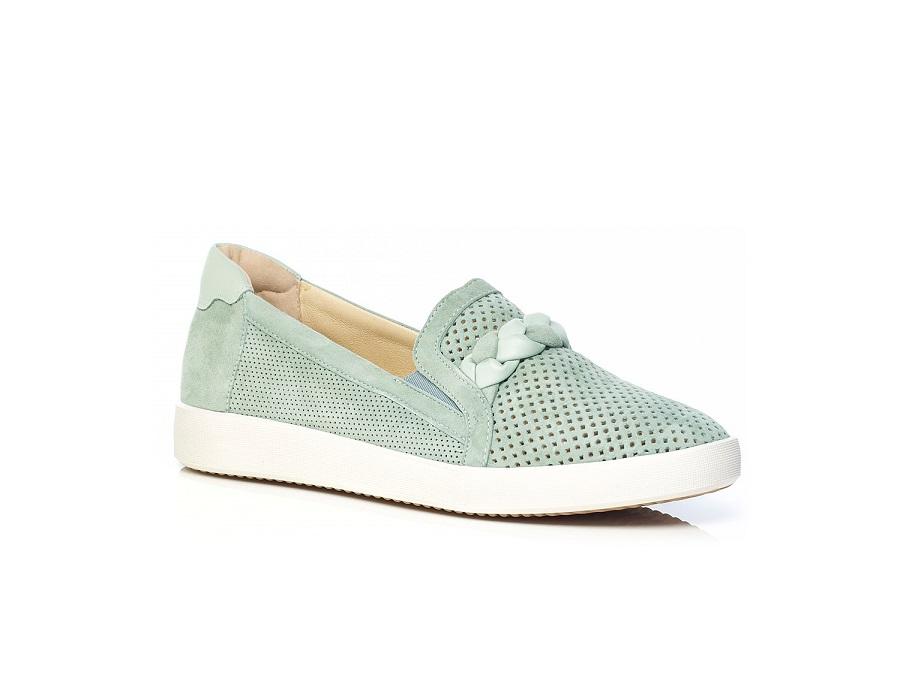 Flat Sneaker in Green