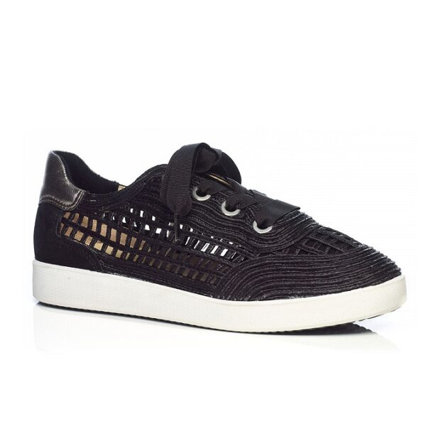 Raffia Sneaker in Black