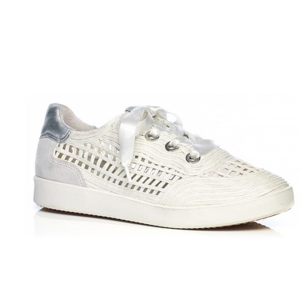 Sneaker raffia in white latest trend
