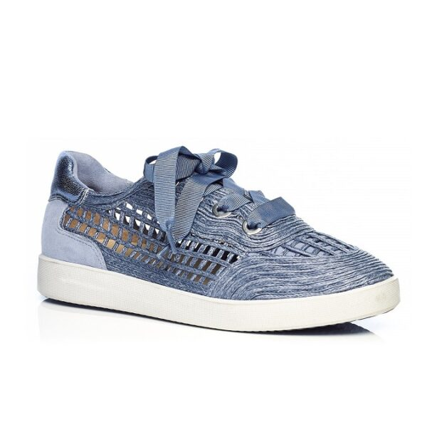 SNEAKERS FLAT IN RAFFIA JEANS