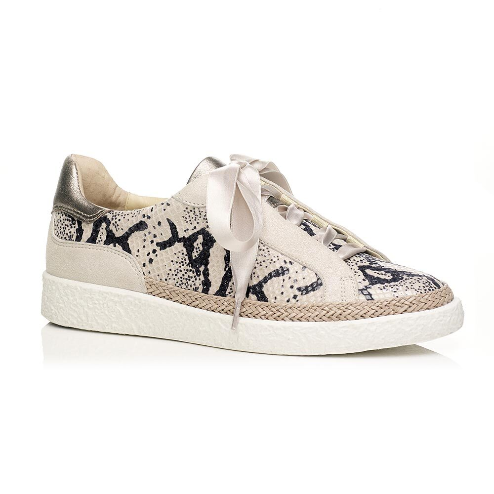 Flat sneakers with Phyton fantasy eather
