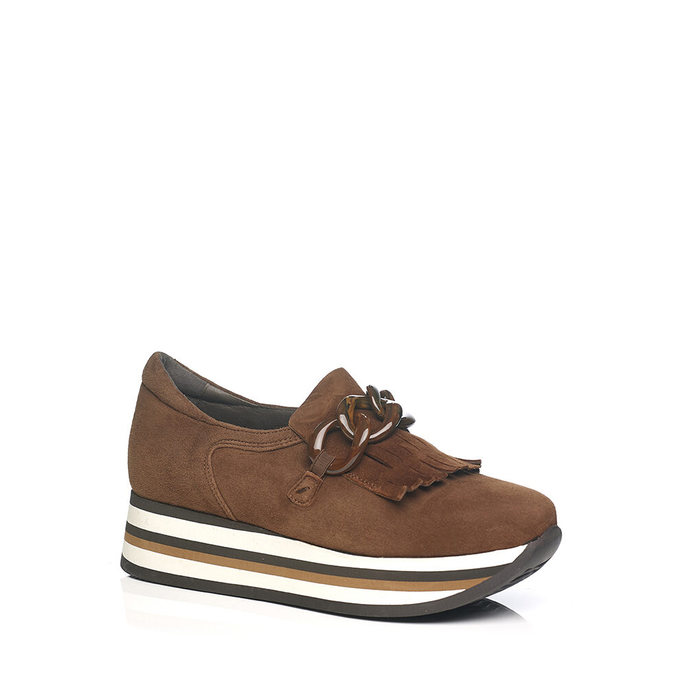 SOFTWAVES WEDGE SNEAKER WITH TRIM
