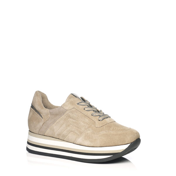 SOFTWAVES SNEAKERS IN VELOUR CREME