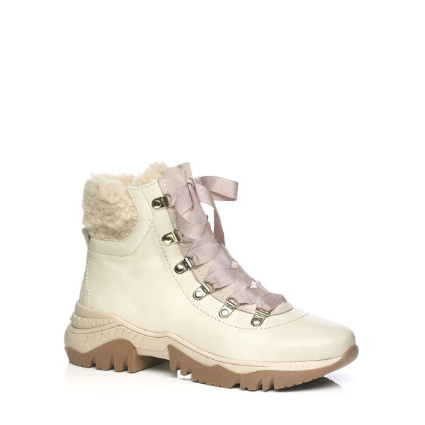 SOFTWAVES BOOTS WITH MONTAIN LOOK IN CREME
